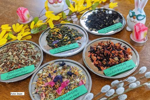 Unsere leckeren neue Frühlings - Tees sind da :-)
