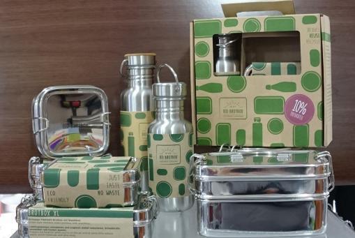 ECO Brotboxen und Flaschen aus Edelstahl