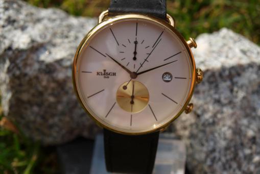 Klisch - Chronograph mit Datum Edelstahl/vergoldet