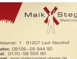 Malermeister Maik Steger in Lauf an der Pegnitz