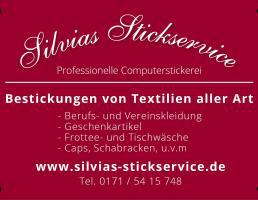 Silvias Stickservice in Lauf an der Pegnitz