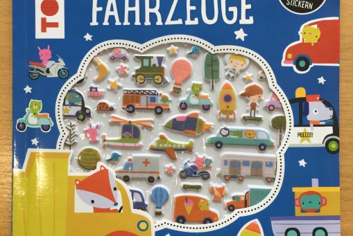 Mein 3D-Sticker-Mitmachbuch - Fahrzeuge