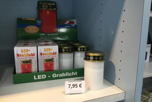 LED-Grablicht, inkl. Batterien