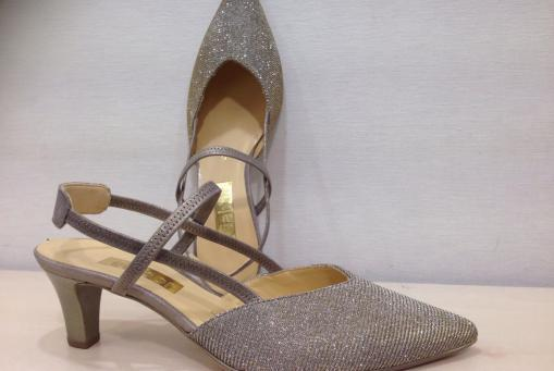 Gabor- eleganter Slingpumps - Obermaterial goldbeiges Lurex