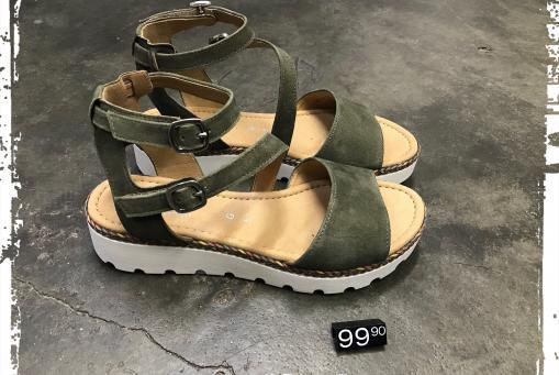 Gabor - modische Sandalette in Oliv