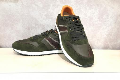 Lloyd - grüner Ledersneaker