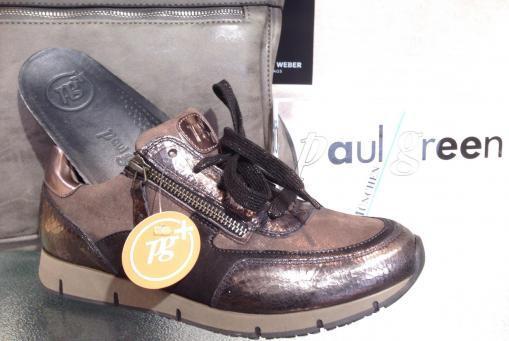 Paul Green - Sneaker mit Wechselfußbett, verschiedenen Metallicfarbtönen