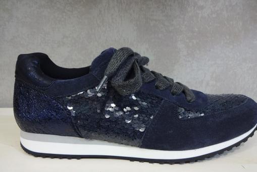 Paul Green - Sneaker mit Pailletten in Blau