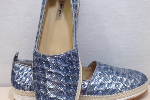 Paul Green- Slipper mit Pailetten .... jeansblau