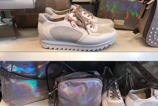 Gabor- modischer Sneaker in nude