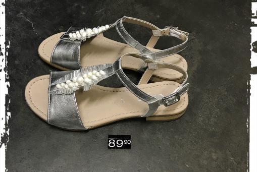Gabor - flache Sandalette mit Druckknopf und weichem Fussbett