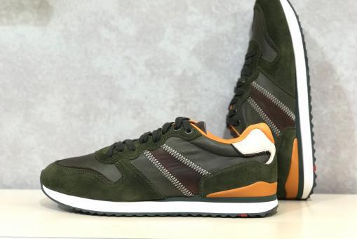 Lloyd- grüner Ledersneaker