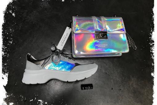 Ara- extravaganter Sneaker mit irisierendem Einsatz