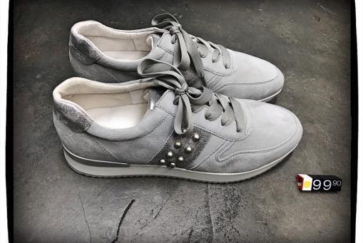 Gabor - grauer Sneaker mit Wechselfussbett (auch in blau erhältlich)
