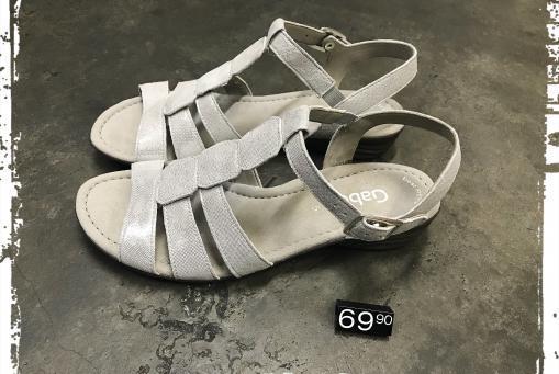 Gabor - bequeme Sandalette in hellem silber