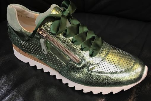 Paul Green- grün Metallicleder
