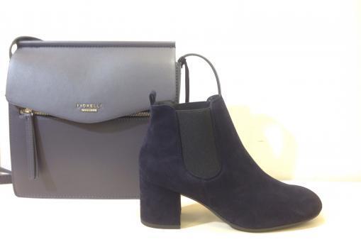 Paul Green - elegante Stiefelette , Veloursleder, blau