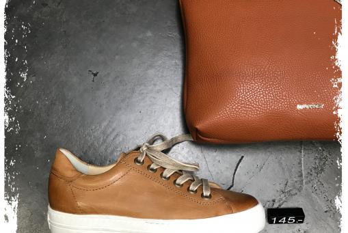 Paul Green - Edler Sneaker in cognac