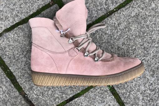 Gabor - Lamfellstiefel in rosa