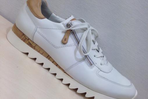 Paul Green - Weißer Ledersneaker ...mit Reißverschluss