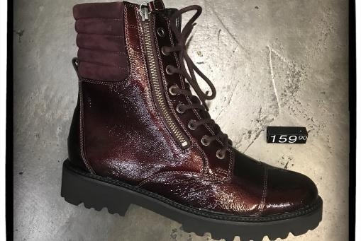Gabor - topmodischer Stiefel aus weichem Knautschlack- bordorot ..... mit zusätzlichem reiss