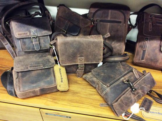 Bayern Bag - Business- Freizeit- Taschen aus naturbelassenem Vollrindleder, moderne Formen