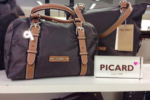 Lederfreie Handtaschen von Picard. Braun, Brombeer oder schwarz. Hoher Tragekomfort, toller Preis