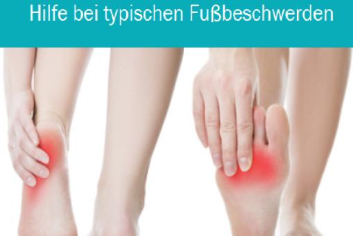 Wenn die Füße schmerzen können wir helfen
