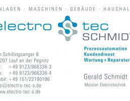 electro tec SCHMIDT Inhaber Gerald Schmidt in Lauf an der Pegnitz