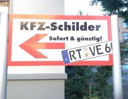 Kfz-Schilder in Reutlingen