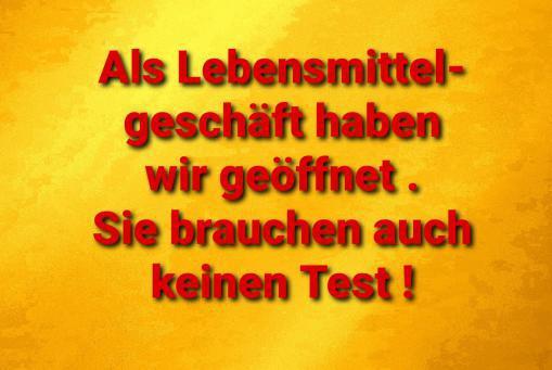 Kein Test erforderlich !