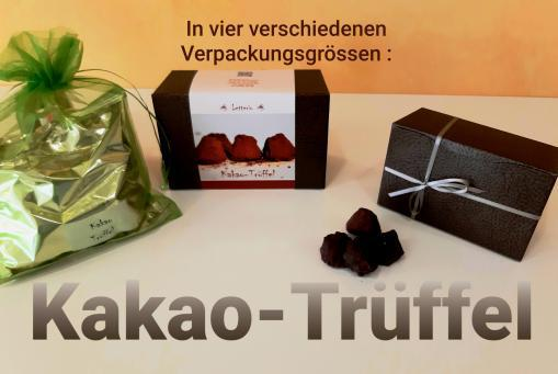 "Kakao-Trüffel können ""süchtig"" machen !"