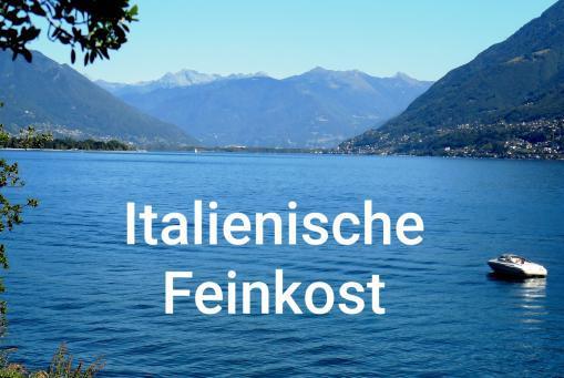 Es folgen Teile unseres Feinkostsortiments, das wir vornehmlich aus Italien beziehen.