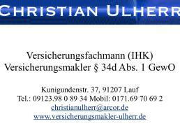 Christian Ulherr Versicherungsmakler in Lauf an der Pegnitz