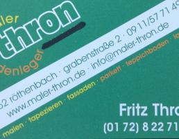 Fritz Thron in Röthenbach an der Pegnitz