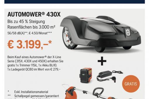 Husqvarna Automower 430x inkl. Akku Trimmer Set