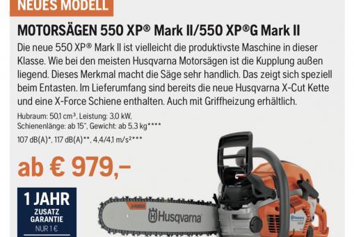 Husqvarna Motorsäge 550 XPG Mark II