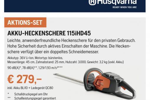 Husqvarna Akku-Heckenschere 115iHD45