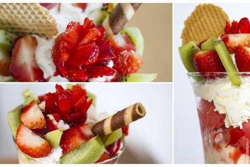 Erdbeerbecher