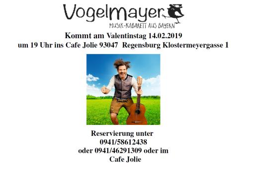 Musik-Kabarett aus Bayern kommt am 14.02.2019 ins Cafe Jolie