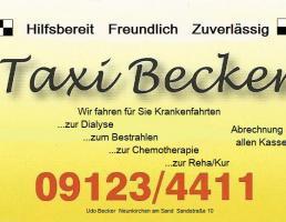 Taxi-Becker in Neunkirchen am Sand