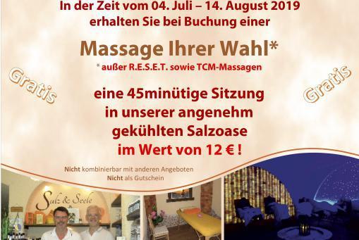 Sommer Massage Wochen 2019
