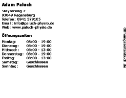 Adam Paluch Krankengymnastik-Praxis in Regensburg