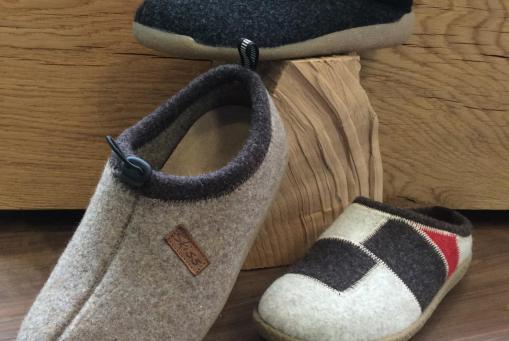Wollfilz-Pantoffeln